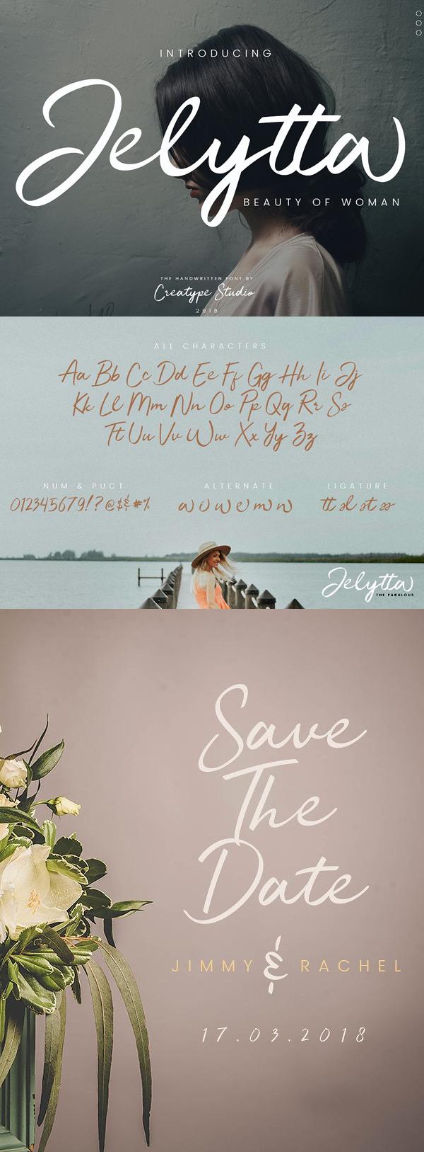 Fuente gratuita Jelytta Handwritten