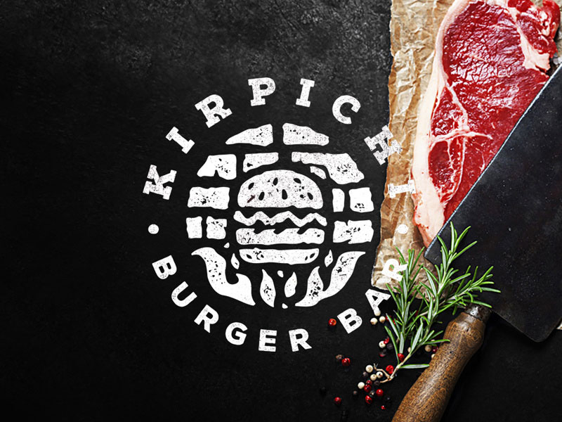 Kirpichi - Logotipo de la barra de hamburguesas