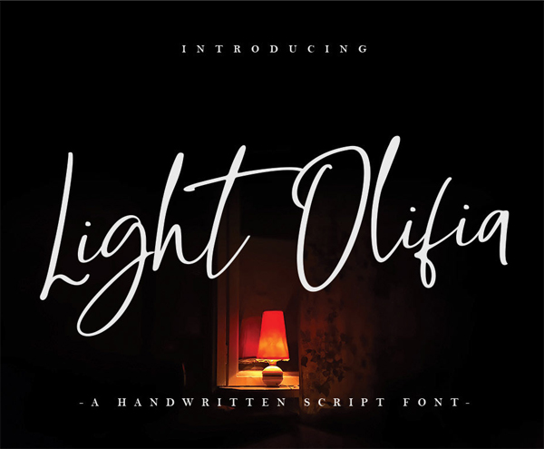 Fuentes de firma gratis:  Light Olifia Script Free