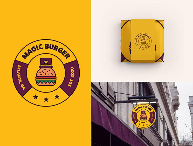 Ideas Logotipos de Hamburguesas: Logotipo de Magic Burger