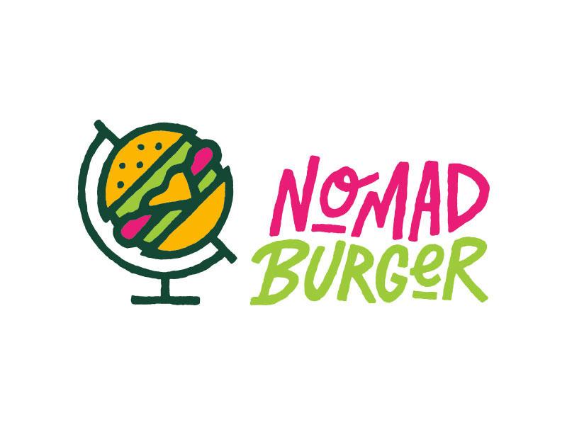 Ideas Logotipos de Hamburguesas: Logotipo de Nomad Burger