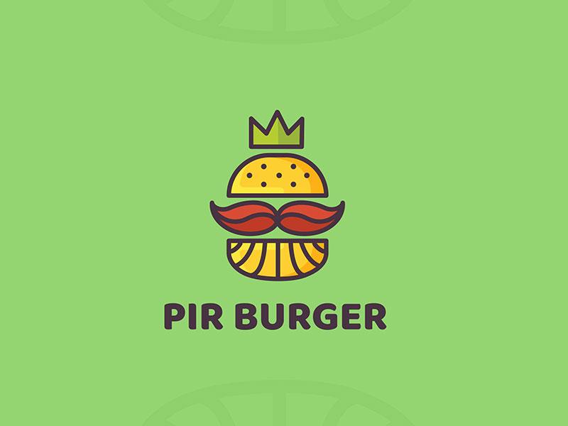Logotipo de la hamburguesa Pir
