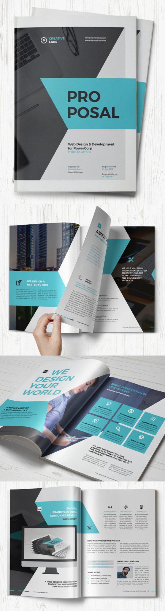 propuesta de folleto profesional