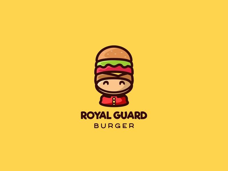 Ideas Logotipos de Hamburguesas: Logotipo de Royal Guard Burger