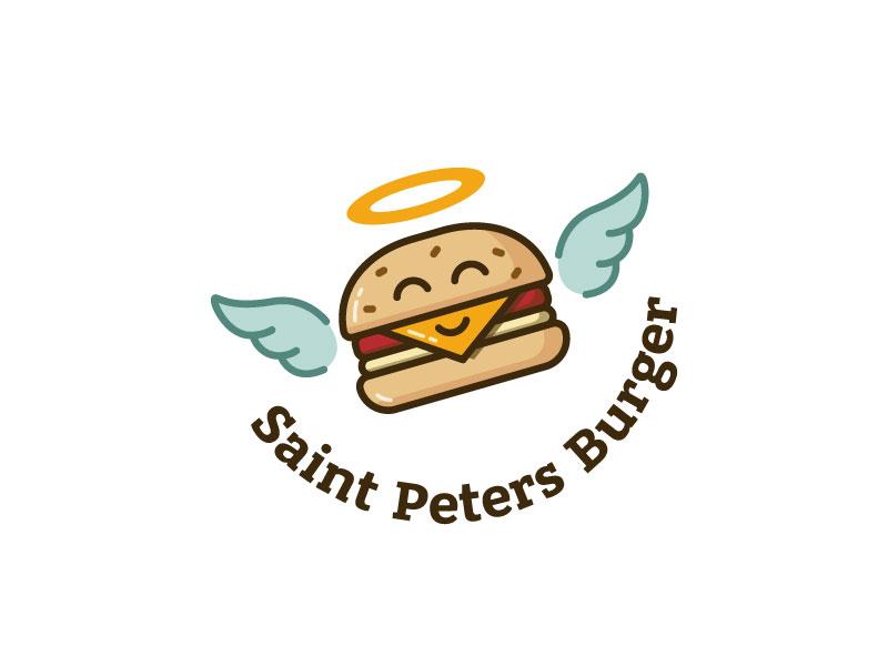 Ideas Logotipos de Hamburguesas: Logotipo de Saint Peters Burger