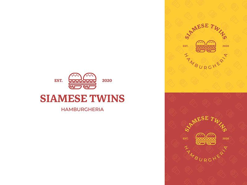 Gemelos Siameses - Logotipo de Hamburgheria