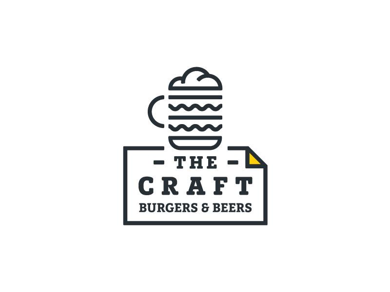 The Craft - Logotipo de hamburguesas y cervezas