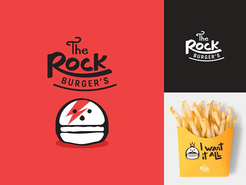 Ideas Logotipos de Hamburguesas: El logotipo de The Rock Burger