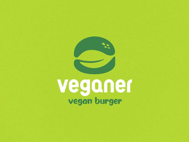 Ideas Logotipos de Hamburguesas: Logotipo de Veganer