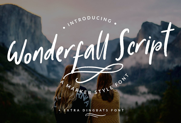 Fuentes de firma gratuitas:  Wonderfall Script Free