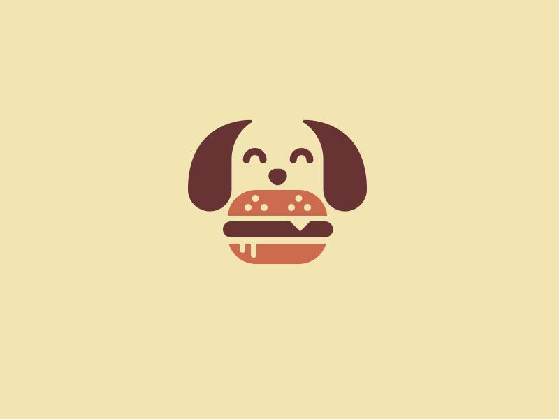 Ideas Logotipos de Hamburguesas: Logotipo de hamburguesa Woof