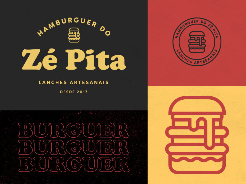 Logotipo de la hamburguesa de Ze Pita
