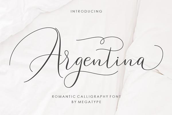 Fuentes de firma gratis: Argentina Script Free