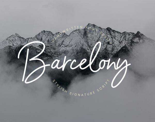 Fuentes de firma gratuitas: Barcelony Signature Free
