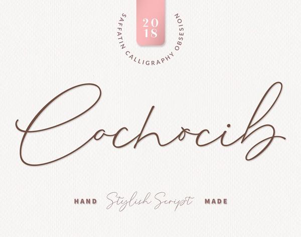 Fuentes de firma gratis: Cochocib Script Free
