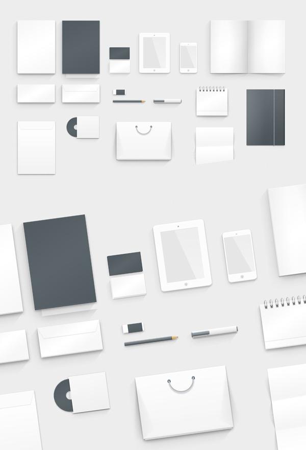 Diseño de maqueta PSD de marca gráfica gratuita