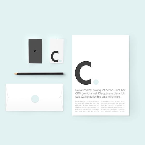 Maqueta de identidad / marca minimalista gratis