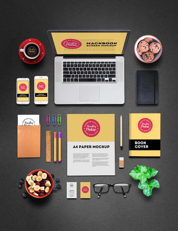 Maqueta de marca profesional gratuita PSD