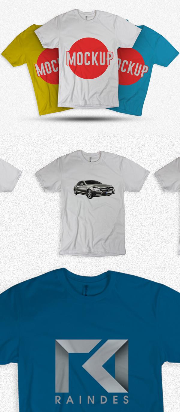 45 plantillas de maquetas de camisetas gratuitas PSD