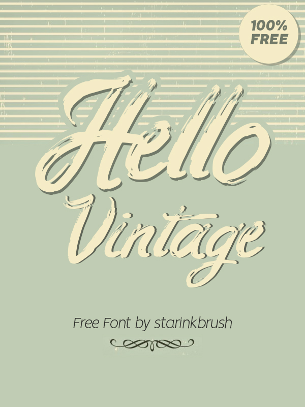 Fuentes de firma gratuitas: Hello Vintage Free