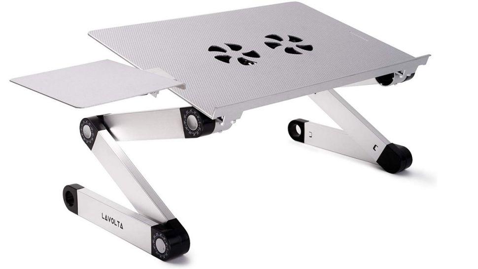 Soporte de bandeja de escritorio plegable para mesa de ordenador portátil Lavolta