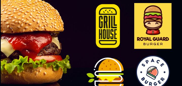 Ideas creativasa de logotipos de hamburguesas