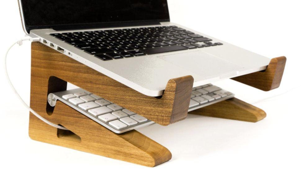 Accesorios para portátil de madera