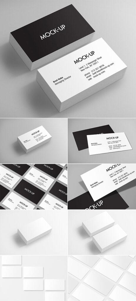 Maquetas de tarjetas de presentación
