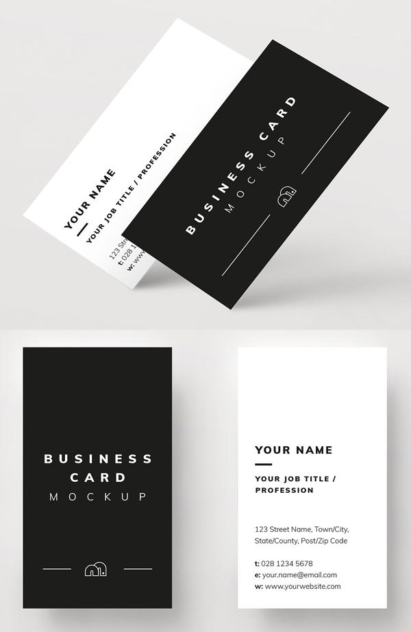 Maqueta de tarjeta de visita profesional y mínima