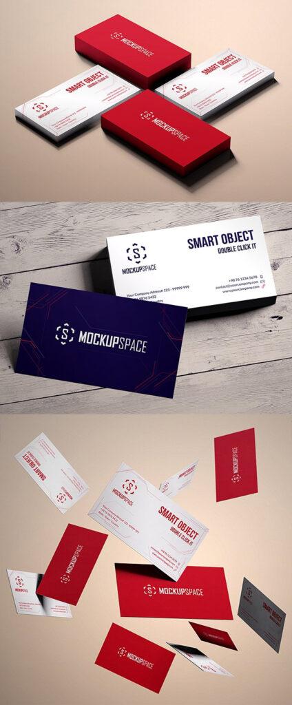 Maquetas de tarjetas de visita elegantes y con estilo