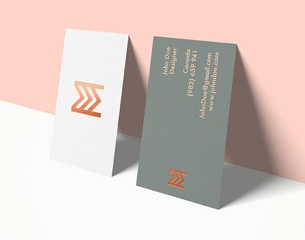 Maquetas de tarjetas de visita de alta resolución