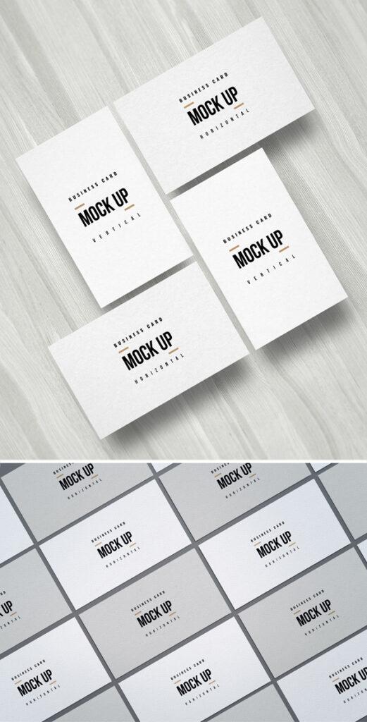Maquetas de tarjetas de visita mínimas