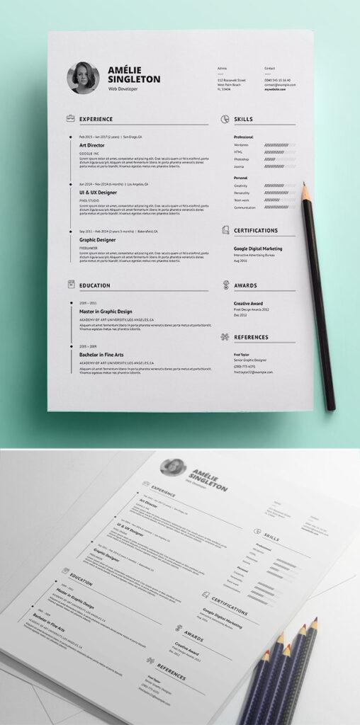 Currículum vitae profesional / CV y carta de presentación