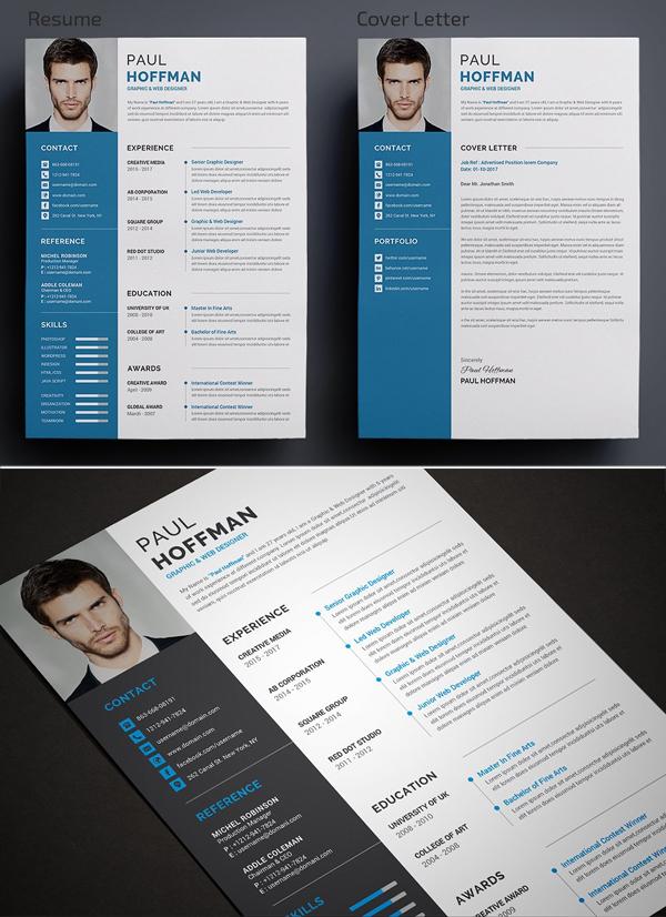 Elegante y simple CV / CV y carta de presentación