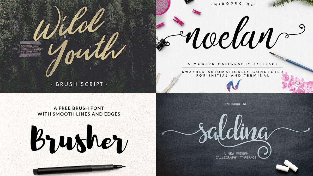 fuentes caligráficas Elegantes