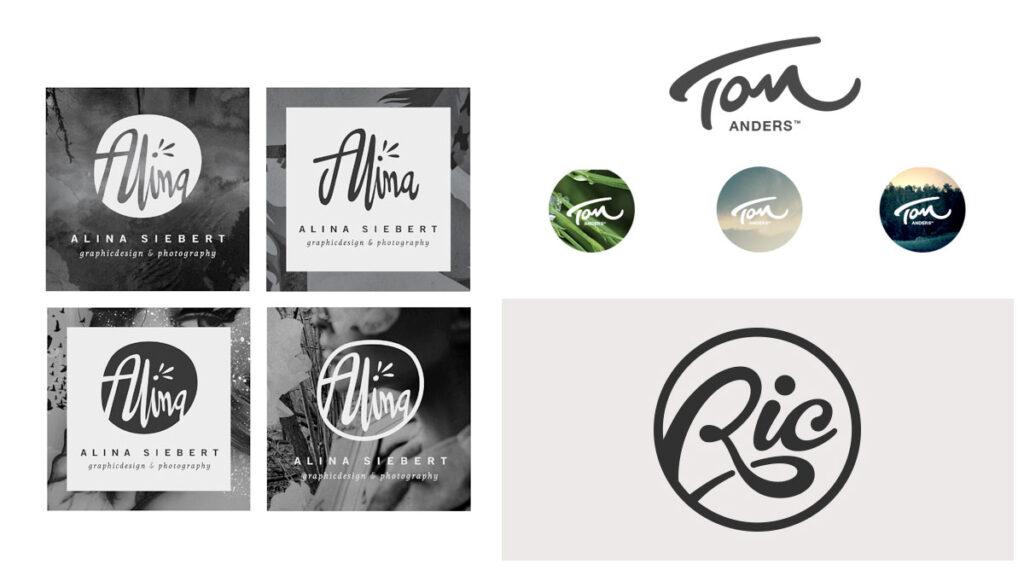 ejemplos de logo de marca personal -consejos para construir una marca personal e impulsar tu carrera