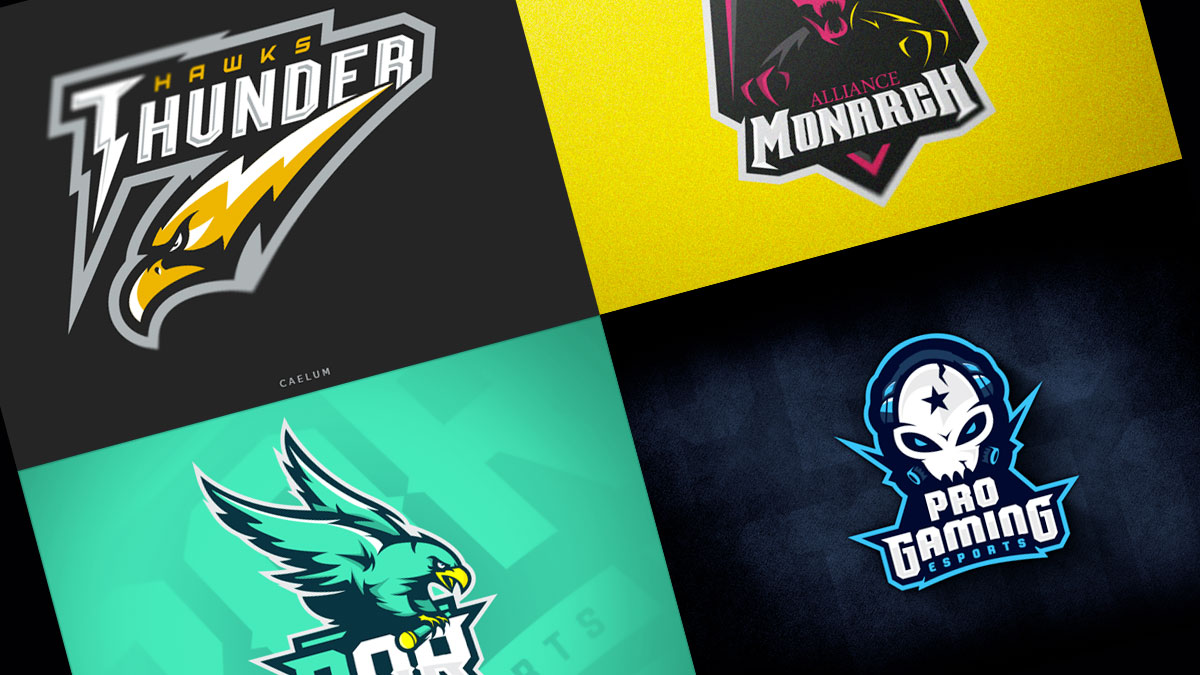 logo para eSports, mascotas gamers