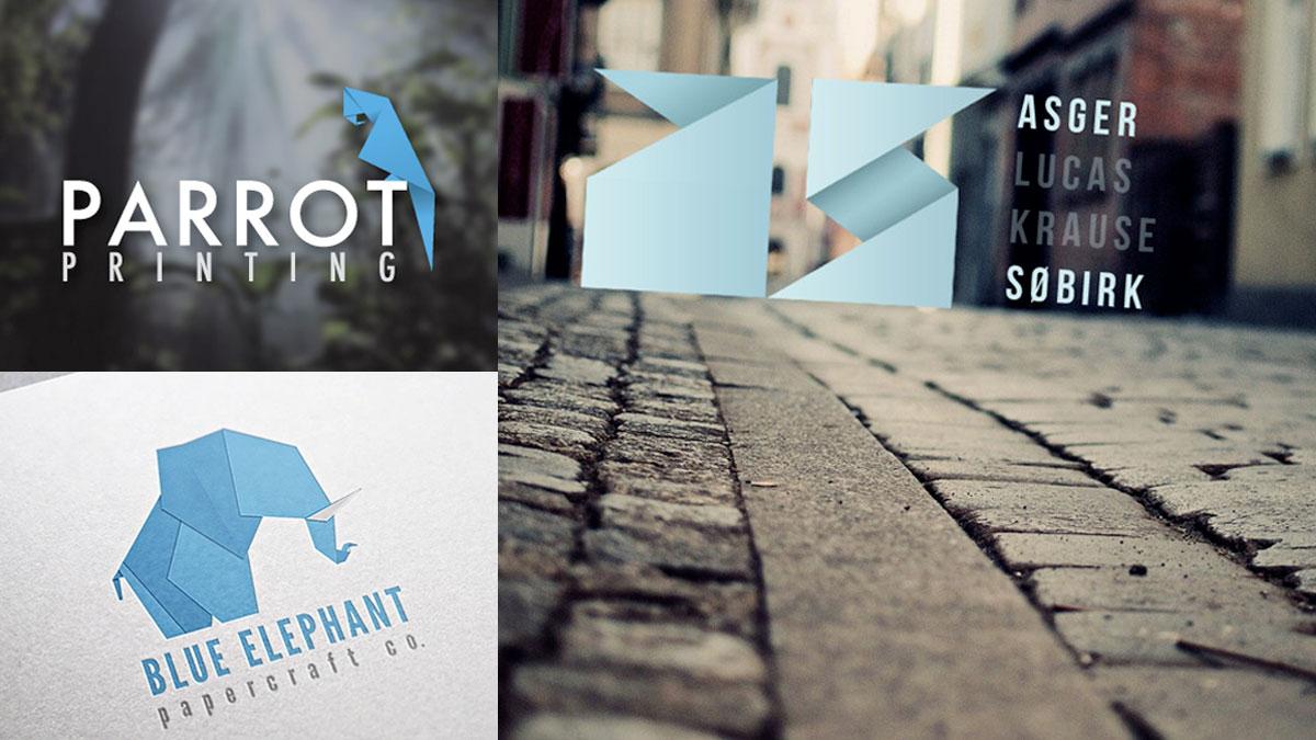 Logotipo estilo origami o plegado