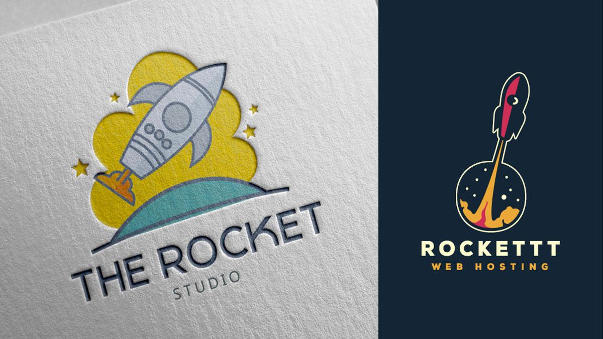 Logotipos de cohetes y proyectiles